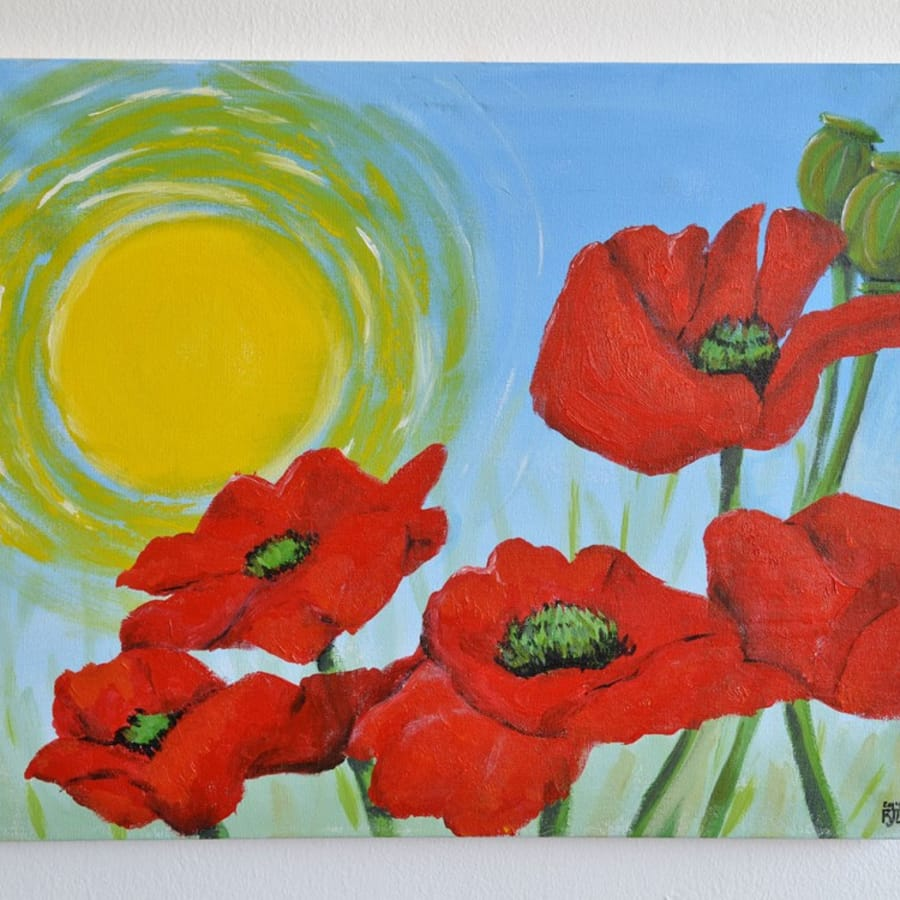 Paint the Poppy - Clapham by PopUp Painting - art in London