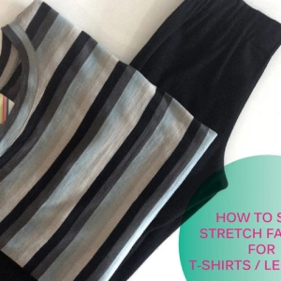 How To Sew Stretch Fabrics and Make T-Shirts by Fashion Antidote - crafts in London