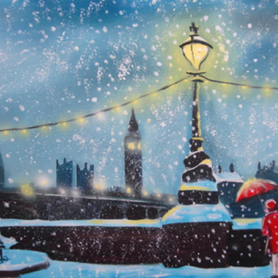 Paint a Snowy London: Ealing by PopUp Painting - art in London