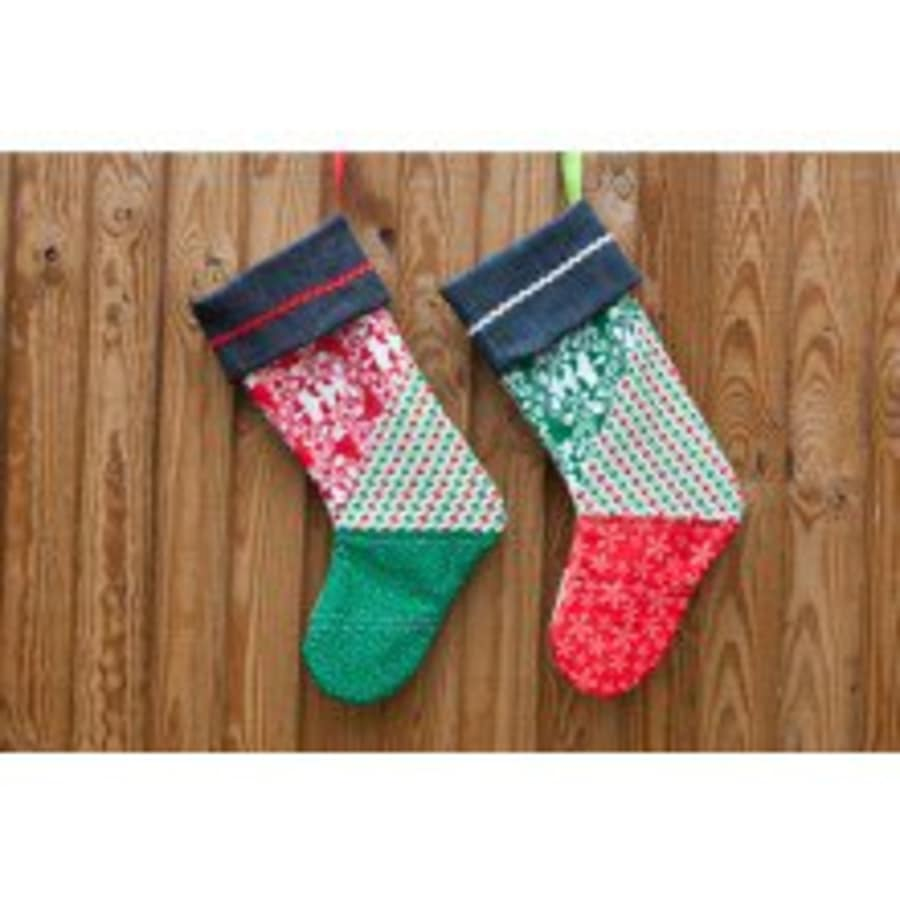 Make your own Quilted Christmas Stocking by The Village Haberdashery - crafts in London