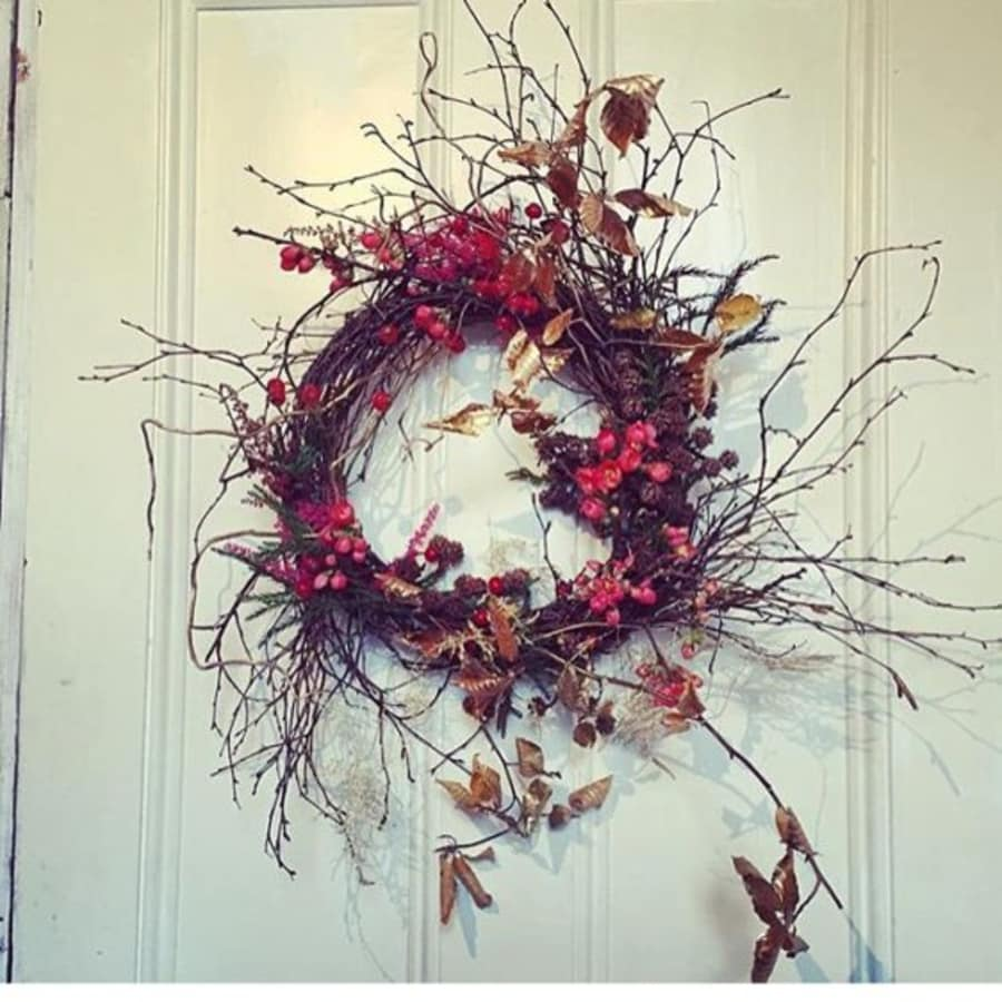 Christmas Wreath Class by Stag and Bow - crafts in London