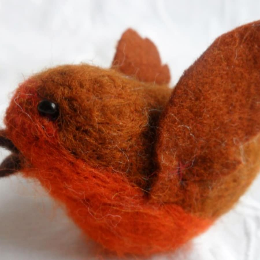 Create Needle felted Robin and Baubles by Susanna Wallis Arts and Crafts - crafts in London