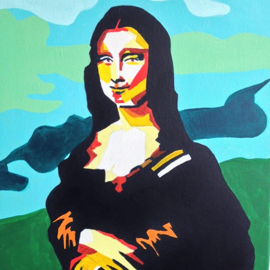 Paint Mona Lisa as Pop Art by PopUp Painting - art in London