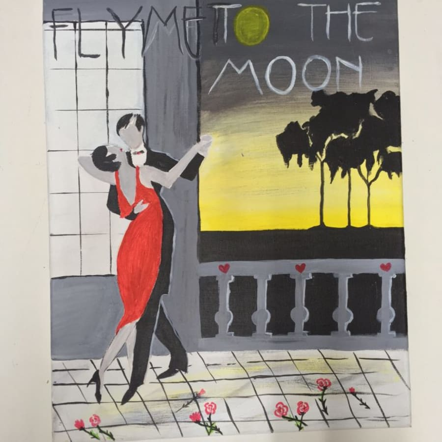 Valentine's Day Painting Workshop by PopUp Painting - art in London