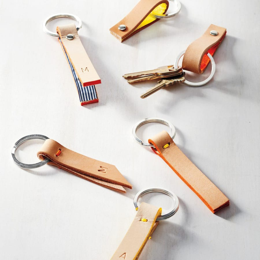 Make a Leather Keychain or Wallet with Nancy Straughan by The Village Haberdashery - crafts in London