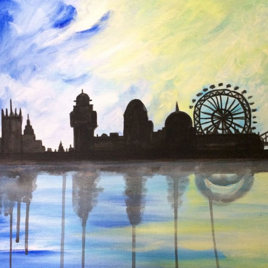 Paint London at St Pauls by PopUp Painting - art in London