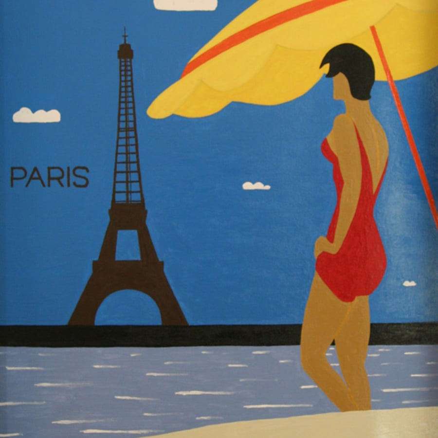 Paint Art Deco: Southbank by PopUp Painting - art in London