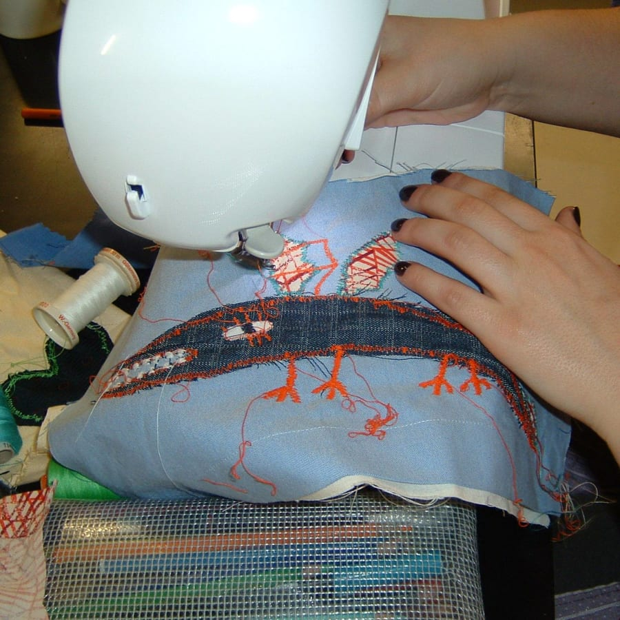 Sewing Machine Class: Make an Applique Cushion or Tote-style Bag by Fabrications - crafts in London