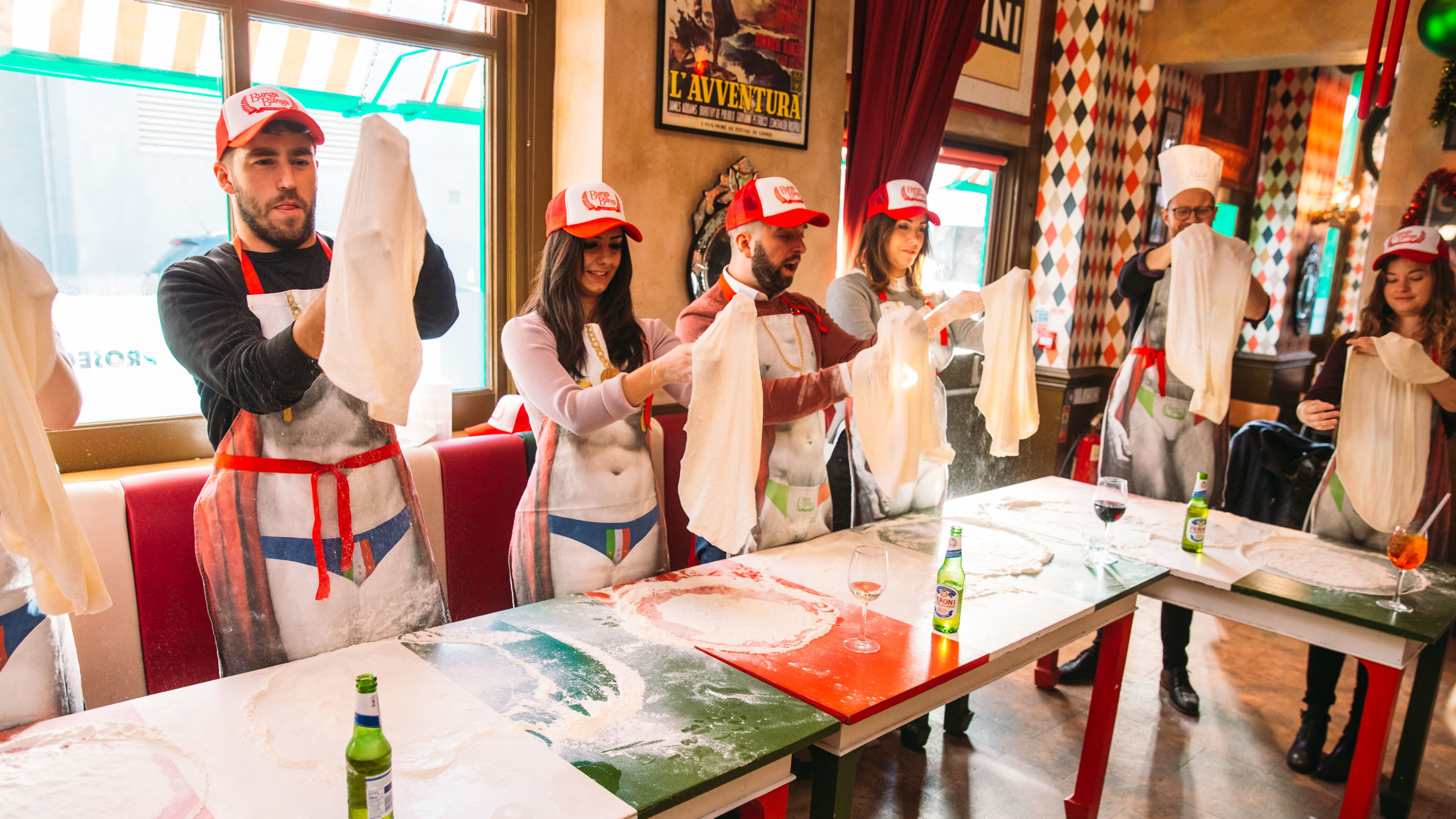 Traditional Italian Pizza Making with Free Cocktail by Bunga Bunga - food in London