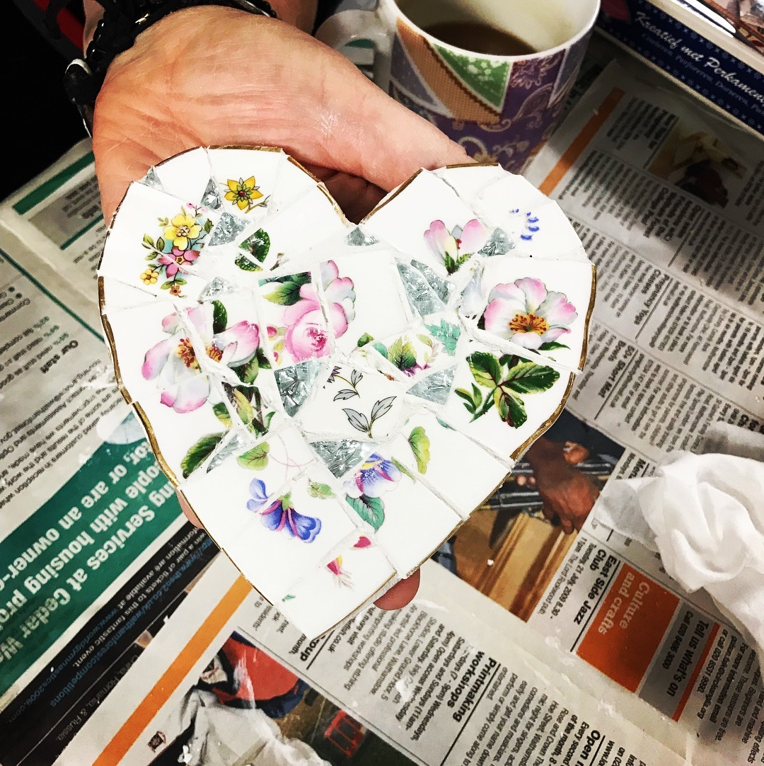 Make a Mosaic Heart with crockery If the dates listed are not suitable I offer a Flexi option by The Mosaic Tutor - crafts in London