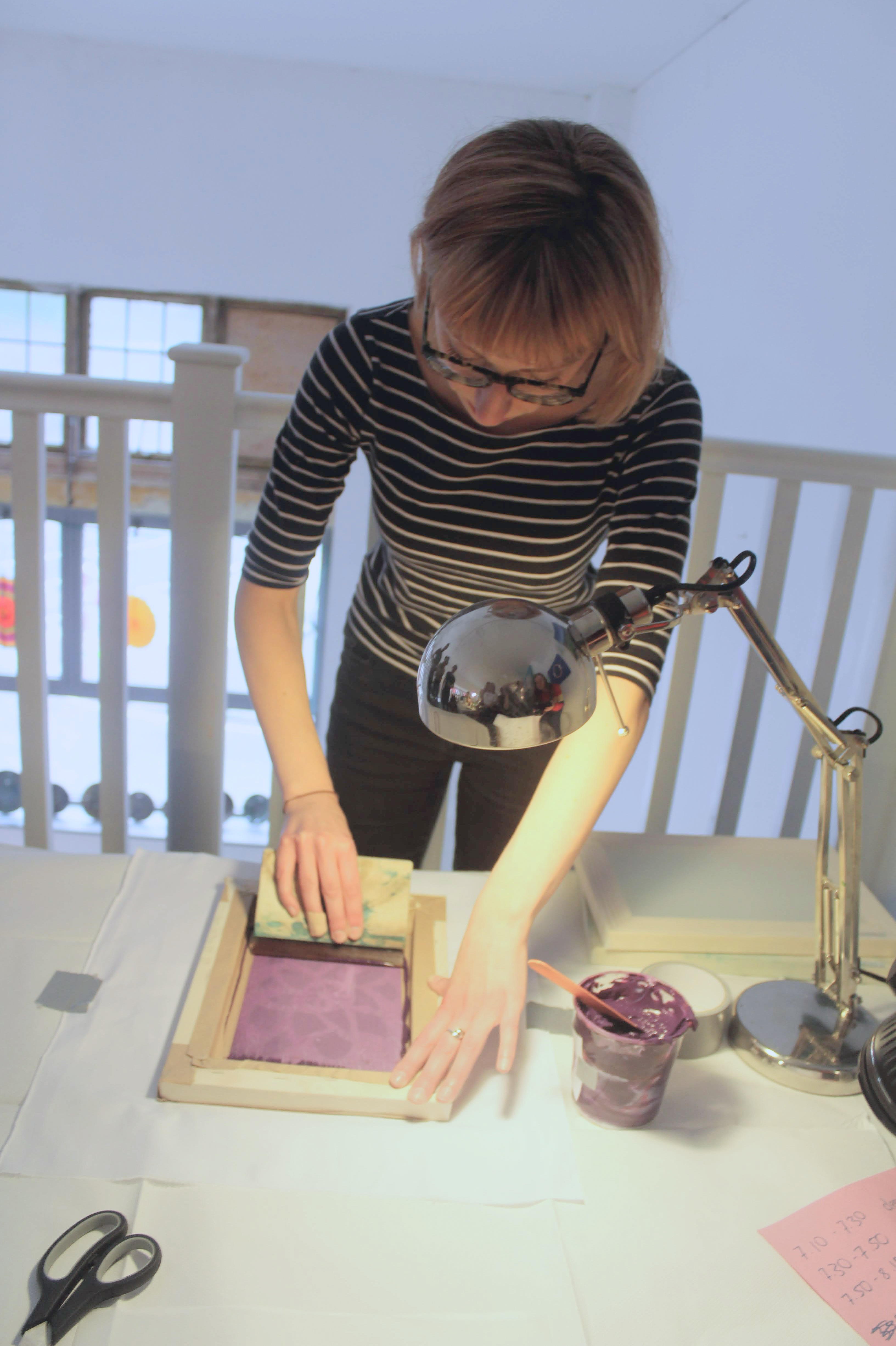 Floral Fabric Printing Workshop by George Prints Design - crafts in London