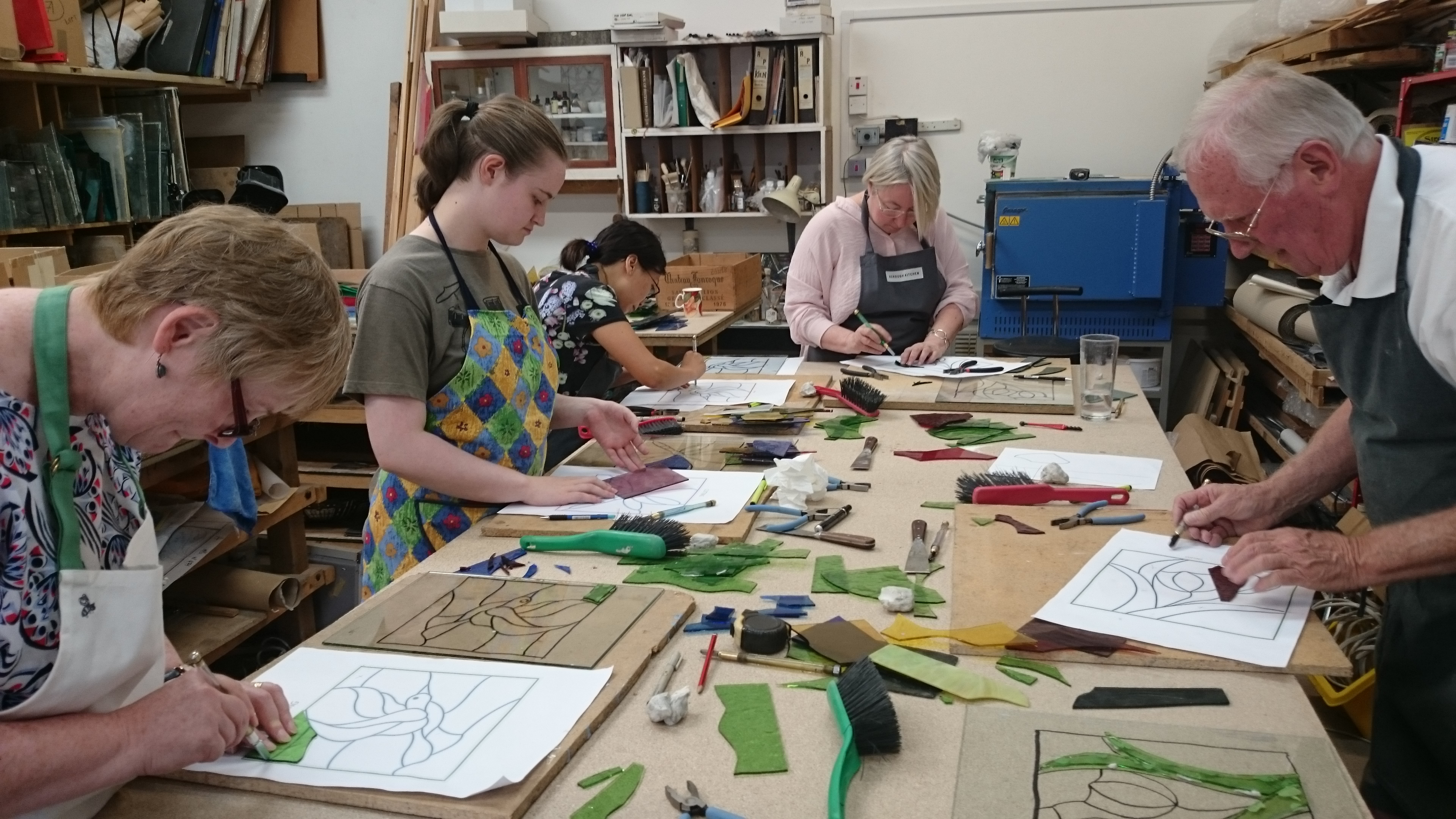 Stained Glass Weekend for Beginners - 2 days by Jude Stark Studio at The London Stained Glass Co. - crafts in London