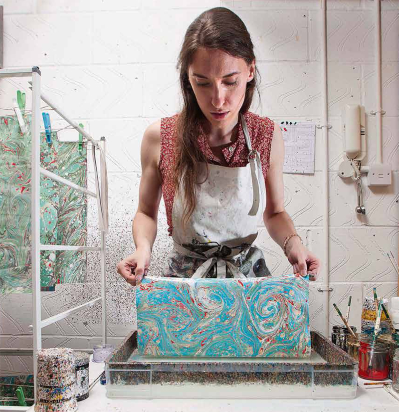 Paper Marbling Taster Evening by Marmor Paperie - crafts in London