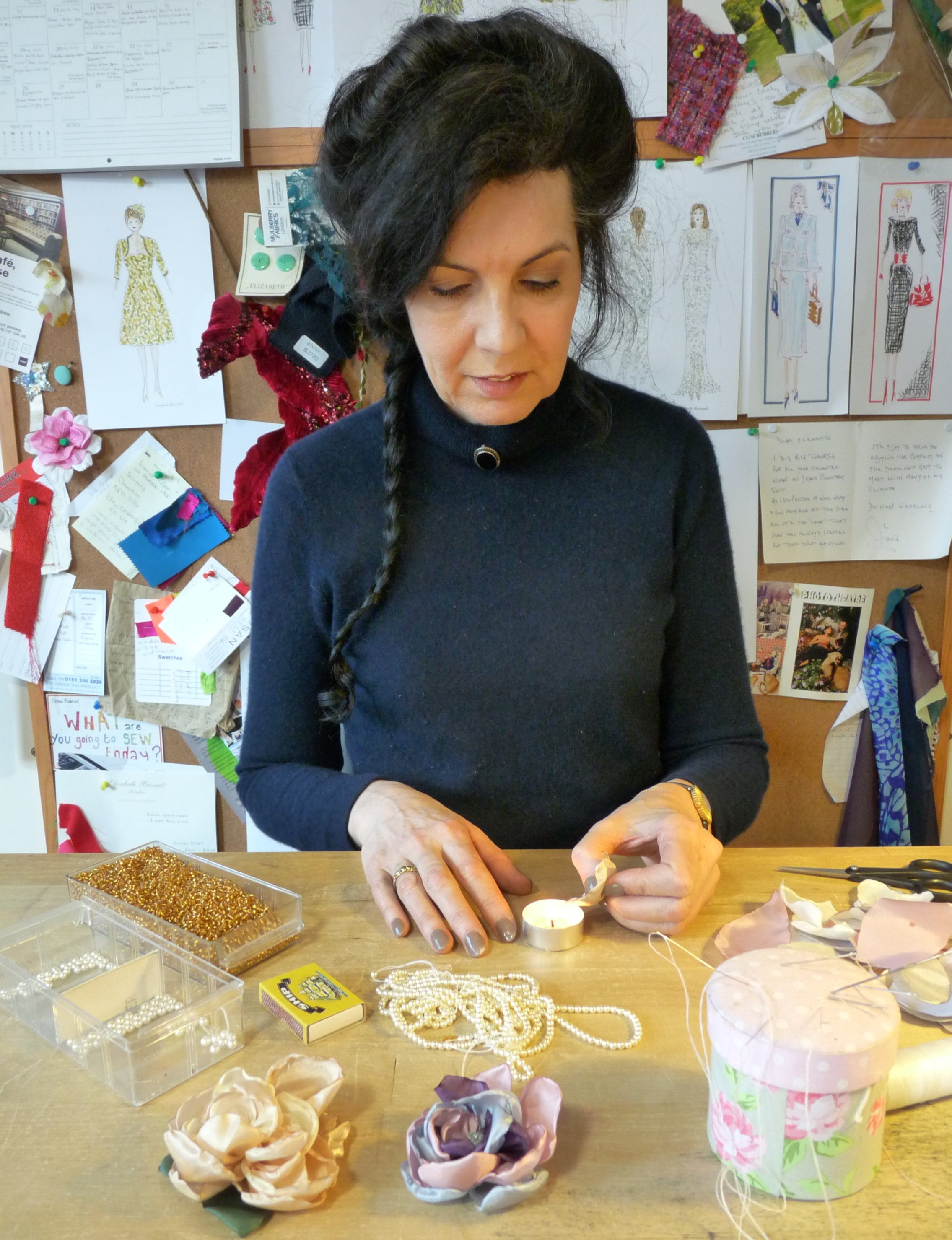 Flower Workshop - How to Make Flowers for Hats and Corsages by Elizabeth Bessant - crafts in London
