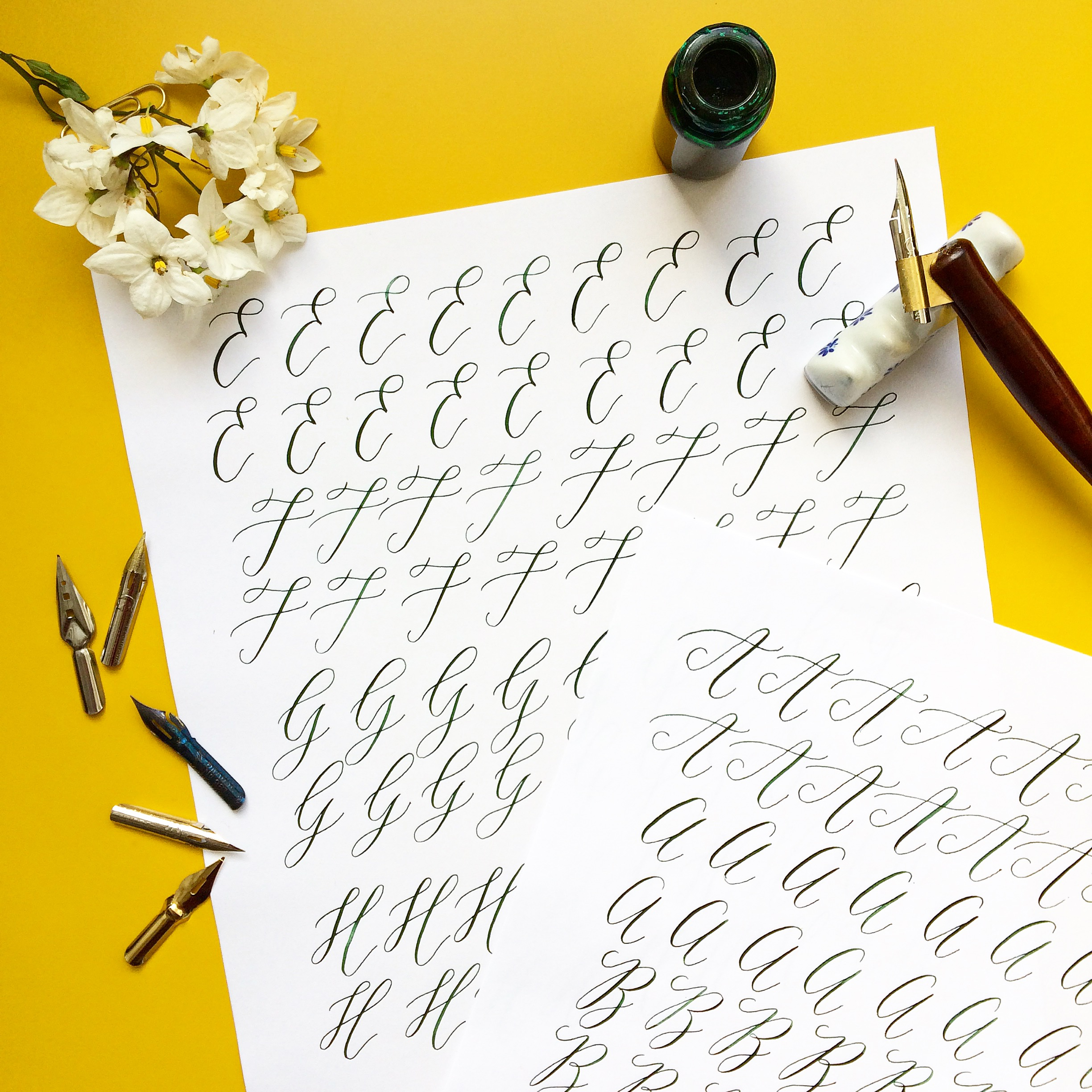 Modern Calligraphy for Beginners by Smitten with Ink - art in London