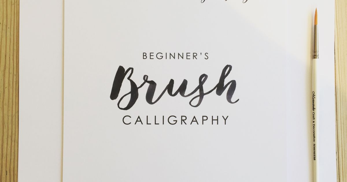 Beginners brush calligraphy workshop obby