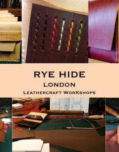 Rye Hide London crafts classes in London