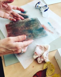 Kim Minuti - Printmaking art classes in London