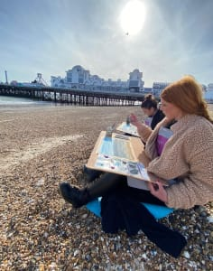 Paint Chill Co art classes in London
