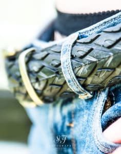 Laura Zabo Upcycled Tyre Fashion Accessories crafts classes in London