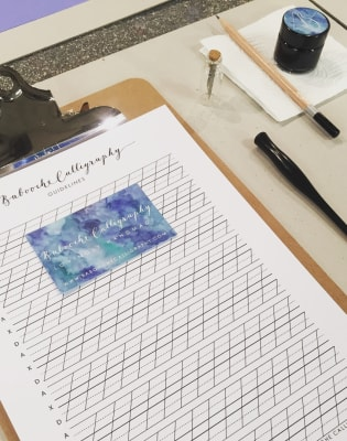 Full Day Modern Calligraphy Workshop by Babooche Calligraphy - art in London