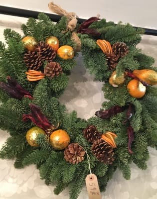 Christmas Door Wreath Workshop by The Cracked Pot - crafts in London