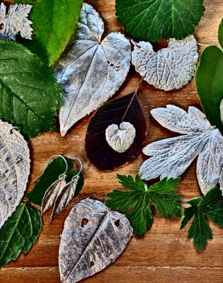 Learn How To Make Silver Leaves by Creative Escape Studio - crafts in London