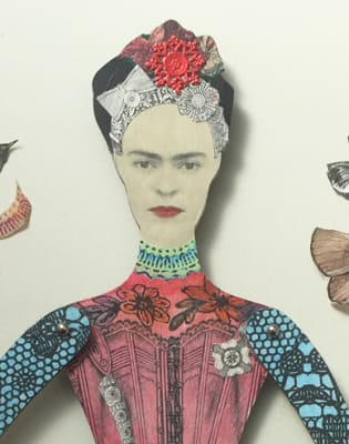 Make Your Own Art Doll Inspired by Frida Kahlo by Gabriela Szulman Art - art in London