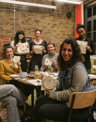 Embroidery Workshop in West Elm by Embellished Talk - crafts in London