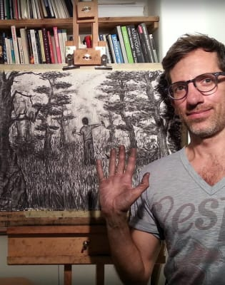 Charcoal Animation with Leo Crane by Minerva Workshop - art in London