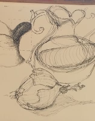Expressive use of Line, Texture and Composition, Expanding the Subject. by London Art School - art in London