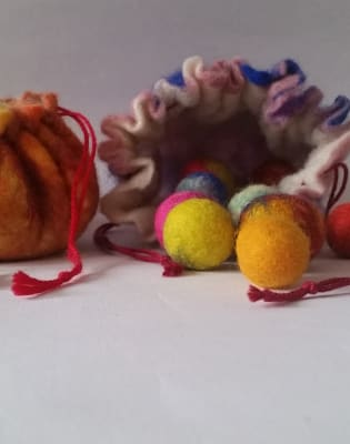 Felt Marbles & A Drawstring Pouch Workshop by Deptford Does Art - crafts in London