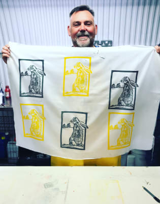Screen Printing onto Textiles for Beginners by Design Me Textiles - art in London