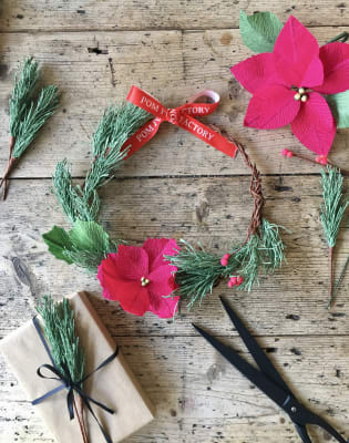 Paper Christmas Wreath Workshop by Pom Pom Factory - crafts in London