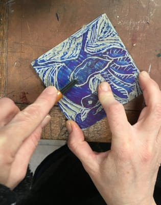 Introduction to Linocut Printing with Kate Guy by The Village Haberdashery - art in London