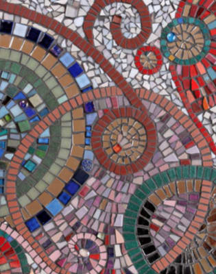 Mosaic Tester Session at Trinity Buoy Wharf with Maud Milton by Trinity Art Studios - art in London