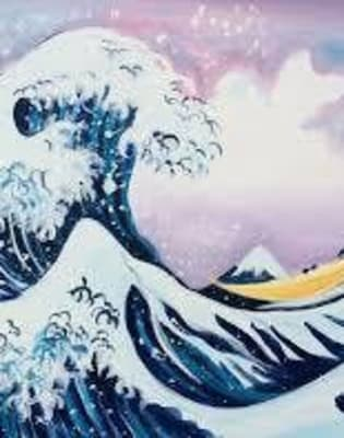 Paint the great wave! by PopUp Painting - art in London