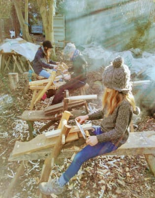 Make a Stool with the Family Workshop by London Green Wood - crafts in London