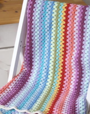 Beginners Crochet: Granny Stripes by Tea & Crafting - crafts in London