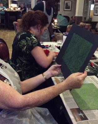 A different Workshop every month - printing, felting, drawing, wire modelling, ink, pastel, painting by CreARTS - art in London