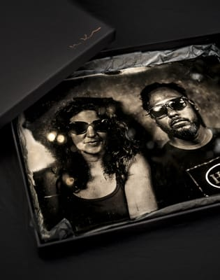 Unique Gift Portrait on glass plate-19th Century Wet Plate Collodion Technique by Magda Kuca Alternative Photography - photography in London