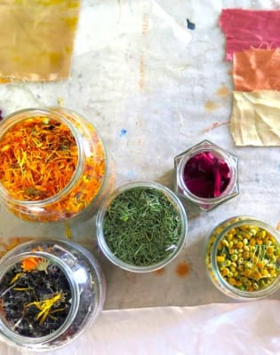 Introduction to Bundle Dyeing with Natural Dyes  by Design Me Textiles - art in London
