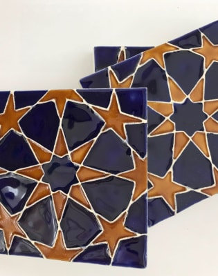 Glaze your own Moroccan Ceramic Tiles Workshop by Deptford Does Art - crafts in London