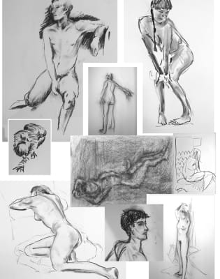 Making a Mark Life Drawing Classes by Martin Jessup - art in London