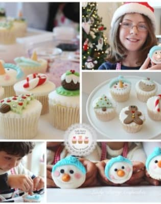 Parent & Child Family Christmas Cupcakes Class by Lady Berry Cupcakes - food in London
