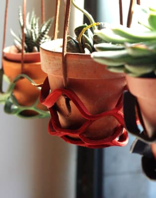 Leather Plant Hanger by Studio Nelle - art in London
