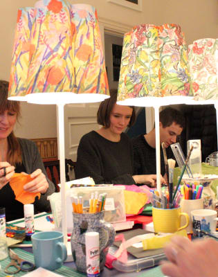 Make a Paper Lampshade by Papershades - crafts in London