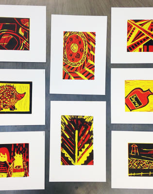 Learn to Lino Print Your Own A4 Posters (Half Day) by M.Y.O (Make Your Own) - art in London