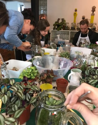 Terrarium Introduction Jar Class - Bible Factory Studio! by Botanical Boys - crafts in London