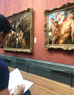 National Gallery - Drawing from Rubens Workshop by Nichola Eddery Atelier - art in London